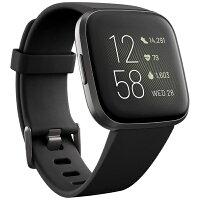 Fitbit フィットビット Fitbit Versa 2 Alexa搭載 スマートウォッチ Black/Carbon L/S サイズ FB507BKBK-FRCJK ブラック カーボン[時計 versa2 バーサ ヴァーサ][FB507BKBKFRCJK]