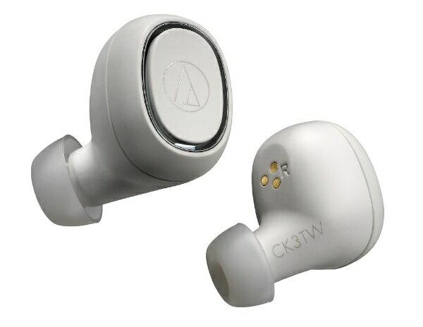 オーディオ, ヘッドホン・イヤホン  audio-technica ATH-CK3TW WH () BluetoothATHCK3TWWH