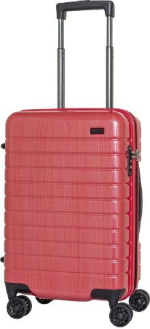 AIRWAY エアーウェイ スーツケース エキスパンダブルキャリー 37L レッドヘアライン AW-0814-50RDH [TSAロック搭載]