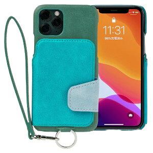 トーモ RAKUNI Soft Leather Case for iPhone 11 Pro rak-19ips-pgrn レイクグリーン