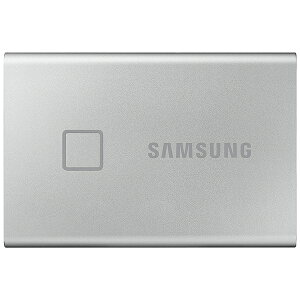 SAMSUNG サムスン MU-PC1T0S/IT 外付けSSD USB-C+USB-A接続 T7 Touch シルバー [ポータブル型 /1TB]