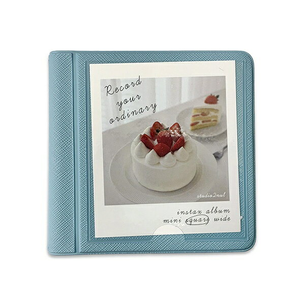 写真整理用品, アルバム 2NUL INSTAX ALBUM SQ mini polaroid album SQUARE SKY BLUE