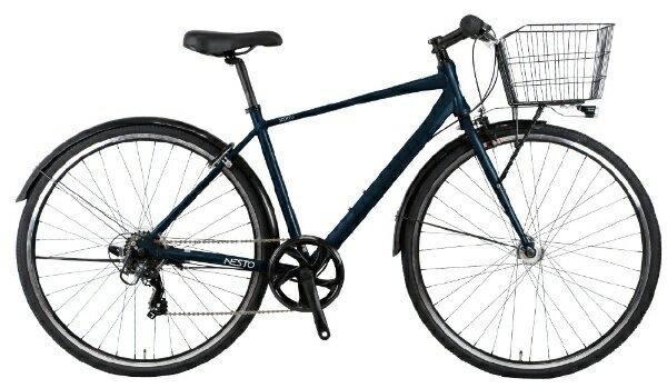 NESTOネスト27型クロスバイクNESTOSCORTO-Bスコルト(480mm/ダークブルー/6段変速/165〜185cm)NE-20-019【2020年モデル】【組立商品につき返品不可】【代金引換配送不可】