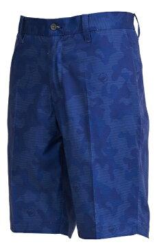 本間ゴルフ メンズ 迷彩柄ハイパーストレッチハーフパンツ(88サイズ/ブルー) 031-733318