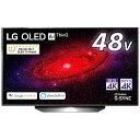LG 有機ELテレビ ブラック OLED48CXPJA [48V型 /4K対応 /BS・CS 4Kチューナー内蔵 /YouTube対応 /Bluetooth対応][テレビ 48型 48インチ]
