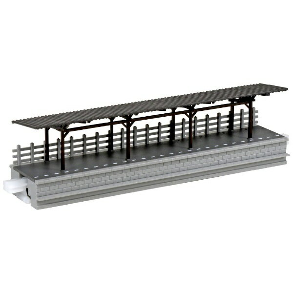 ローカル線の小型駅 対向式ホーム 屋根付き 品番:10-134