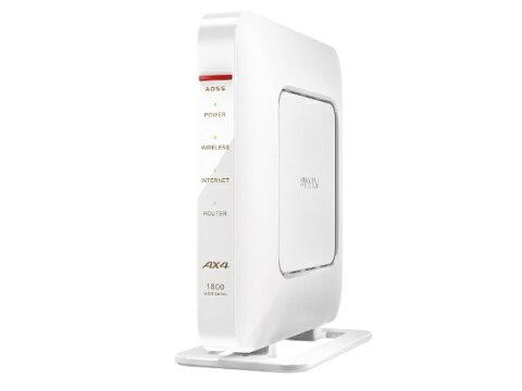 BUFFALO バッファロー WSR-1800AX4-WH 無線LAN親機 wifi6ルーター 1201+573Mbps IPv6対応 ホワイト [Wi-Fi 6(ax)/ac/n/a/g/b][無線LANルーター]