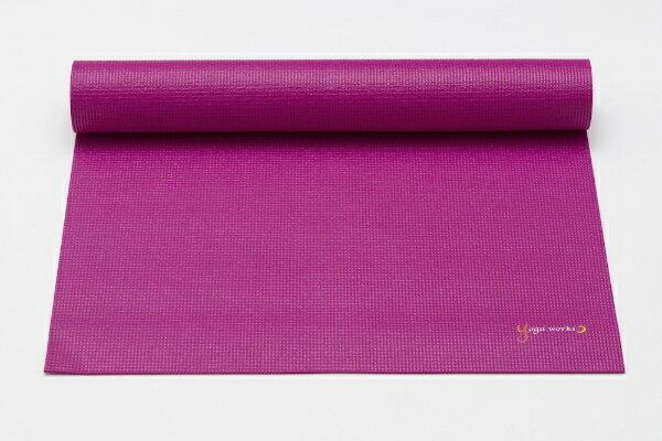 ヨガワークス YOGA WORKS ヨガマット3.5mm(アサイ/約173cm×61cm×3.5mm)YW-A101-C112画像