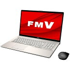 富士通 FUJITSU ノートパソコン LIFEBOOKNH90/E2 シャンパンゴールド FMVN90E2G [17.3型 /intel Core i7 /HDD:1TB /Optane:16GB /SSD:256GB /メモリ:8GB /2020年6月モデル][17.3インチ office付き 新品 windows10]【point_rb】