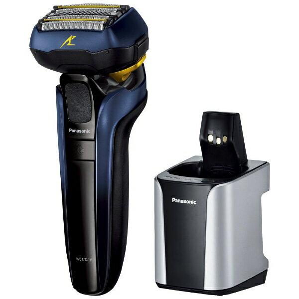 パナソニック Panasonic ES-CLV7T-A メンズシェーバー ラムダッシュ 青 [5枚刃 /国内・海外対応][電気シェーバー 男性 髭剃り]