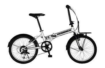 ハマー HUMMER 20型 折りたたみ自転車 HUMMER FDB206TANK-N(ウェザリングシルバー/6段変速) 63225-0999【組立商品につき返品不可】 【代金引換配送不可】