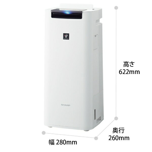 シャープSHARP加湿空気清浄機[適用畳数:18畳/最大適用畳数(加湿):12畳/PM2.5対応]ホワイト系KI-NS40-W