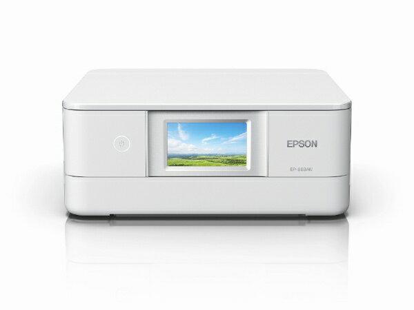 エプソンEPSONEP-883AWA4カラーインクジェット複合機Colorioホワイト カード/名刺〜A4  ハガキ年賀状印刷プ