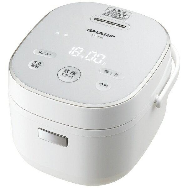 シャープ SHARP 炊飯器 ホワイト系 KS-CF05C-W [マイコン /3合]