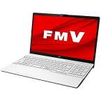 富士通 FUJITSU ノートパソコン LIFEBOOK AH50/F1 プレミアムホワイト FMVA50F1W [15.6型 /AMD Ryzen 7 /メモリ:8GB /SSD:256GB /2021年春モデル]【point_rb】