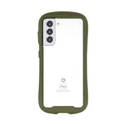 HAMEE ハミィ [Galaxy S21 5G専用]iFace Reflection強化ガラスクリアケース iFace カーキ 41-931288