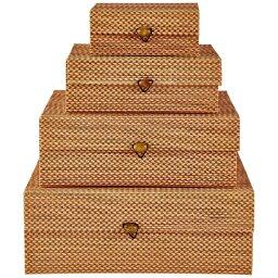VIILA COLLECTION ビラコレクション ストレージボックス 4個セット オレンジ 341346