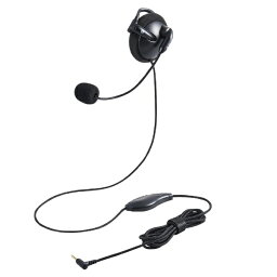 エレコム ELECOM HS-EH01TBK ヘッドセット ブラック [φ3.5mmミニプラグ /片耳 /イヤフックタイプ]