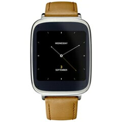 【送料無料】ASUSスマートウォッチ「ASUS ZenWatch」シルバー+ブラウン Android Wear [WI500QB...