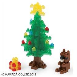 河田ナノブロック クリスマスツリー 2012 [NBC065Xmasツリー12]