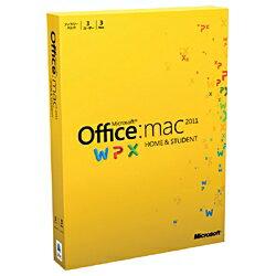 【送料無料】マイクロソフトOffice for Mac Home and Student 2011 ファミリーパック 3パック [...