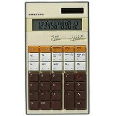 【送料無料】AMADANAデスクトップタイプ電卓 (12桁) LC-504CR(クリーム)