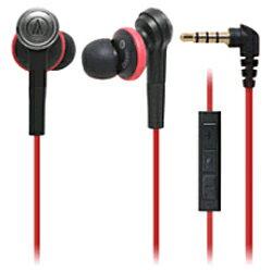 オーディオテクニカiPod/iPhone/iPad専用 密閉型インナーイヤーヘッドホン(レッド) ATH-CKS55i ...