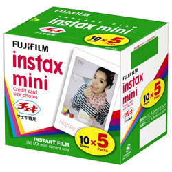 富士フイルムチェキ インスタントカラーフィルム「instax mini」(5パック) [INSTAXMINIKR5]