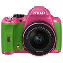 【送料無料】ペンタックスK-r 【レンズキット】(オーダーカラー024・ピンク/グリーン) [KrLK...
