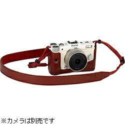 ストラップ付きカメラケースレッド