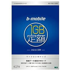 【期間限定送料無料】日本通信b-mobile 1GB定額 マイクロSIMパッケージ BM-FRM-1GBM