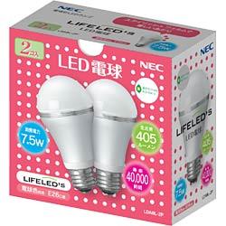 NECライティングLED電球 「LIFELED'S」 (一般電球形・全光束405lm/電球色相当・口金E26) L...
