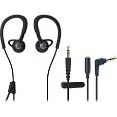 オーディオテクニカ耳かけ型インナーイヤーヘッドホン(ブラック) ATH-CP500 BK 0.6mコード+延...