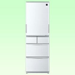 【送料無料】シャープ《基本設置料金セット》 5ドア冷蔵庫 「プラズマクラスター冷蔵庫」(424L) SJ-PW42W-S シルバー系[SJPW42WS]【RCP1209mara】