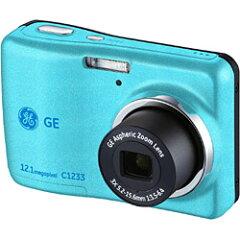 【期間限定送料無料】GEGEデジタルカメラ C1233(ブルー) [C1233]