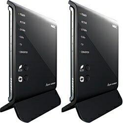 【送料無料】NEC【Windows8対応】無線LANルータ(11ac(Draft)/n/a/g/b対応・親機&子機セット...