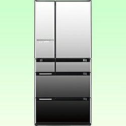 【送料無料】日立《基本設置料金セット》 6ドア冷蔵庫 「スリープ保存 真空チルドSL」(670L) R-CX6700-X クリスタルミラー [RCX6700X]