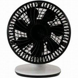 APRO【DCモーター搭載】卓上型扇風機(7枚羽根) KDF-DC15B ブラック/ホワイト [KDFDC15B]