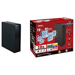 【あす楽対象】【送料無料】東芝外付HDD [USB3.0・2TB] CANVIO DESK(ブラック) HD-EB20TK [HDEB...
