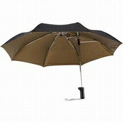シューズセレクションバッグに優しい傘 BAG-3F55-UH 表:黒 裏:ゴールド 55cm [BAG3F55UH]