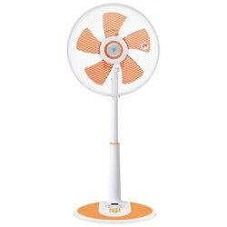 ヤマゼンリモコン付リビング型扇風機(5枚羽根) YLR-D304-CD クリアオレンジ [YLRD304CD]
