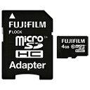 富士フイルム4GB・Class10対応microSDHCカード(SDHC変換アダプタ付)MCSDHC-004G-C10 [MCSDHC004GC10]