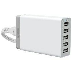 【あす楽対象】その他メーカータブレット/スマートフォン対応[USB給電] AC−USB充電器 8A (150cm・5ポート・ホワイト) Anker 71AN7105-W5JA [71AN7105W5JA]