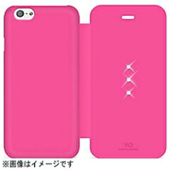 【代金引換配送不可】ホワイトダイヤモンドiPhone 6用 Crystal Booklet ピンク White Diamon...
