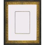 インチ額縁9004(255x203mmマット窓サイズ143x93mm)G/ブラックガラス仕様