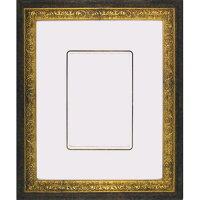 インチ額縁9004(255x203mmマット窓サイズ143x93mm)G/ブラックガラス仕様【あす楽対象】