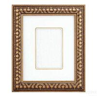 インチ額縁9006(255x203mmマット窓サイズ143x93mm)ゴールドガラス仕様【あす楽対象】