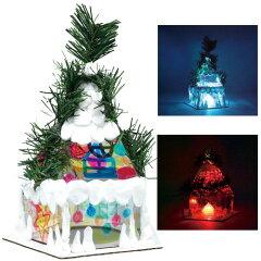 4900円以上で送料無料!立体造形>ライティングアート>クリスマスハウスキットLEDフラッシュキ...