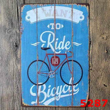 【まとめ割クーポン対象】アートパネル/ブリキボード 自転車/スチールポスター 自転車/アメリカンブリキ看板/インテリア雑貨 サイン ブリキサイン