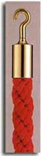 カラーロープAタイプΨ20mmフック:ゴールドロープ:レッド日本製国産送料無料手数料無料ガイドロープ丸フック用赤黄青グレー白(全5色)120cm取付簡単仕切り